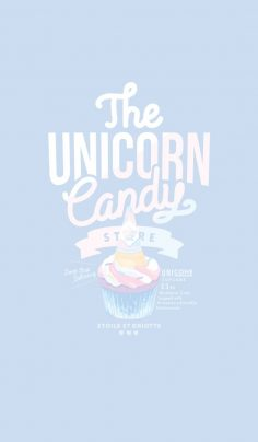 Sugary theme that the rainbow color in pastel colors like Unicor …