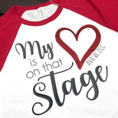 My heart is in that dance mom shirt
