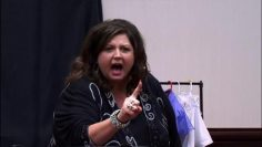 Abby Lee Miller scolds the young dancer with a joke about oral sex: has she gone too far?