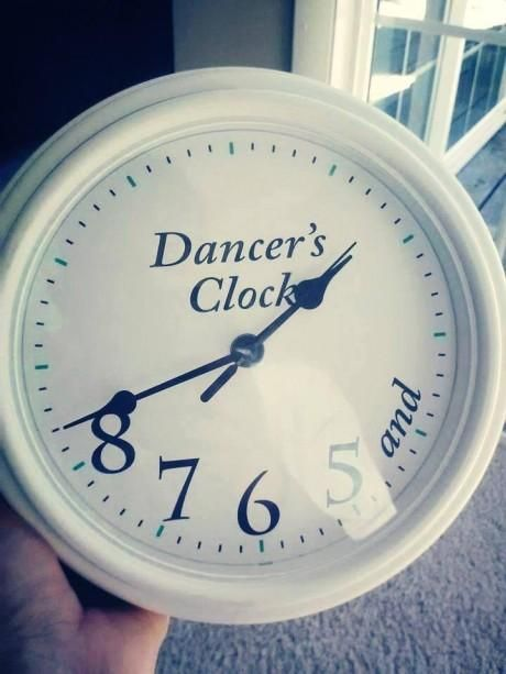 Dancer & # 39; s Clock by Ballroom Dance Gifts