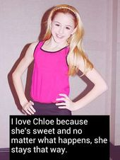 Love, love, Chloe. She and Nia are the sweetest of …