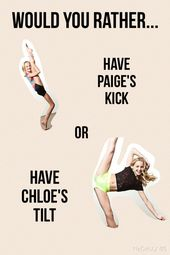 I would rather have the inclination of Chloe :) What about …